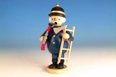 Räuchermann Feuerwehrmann farbig, Höhe 16,5 cm