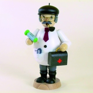 Räuchermann Arzt farbig, Höhe ca. 15,5cm