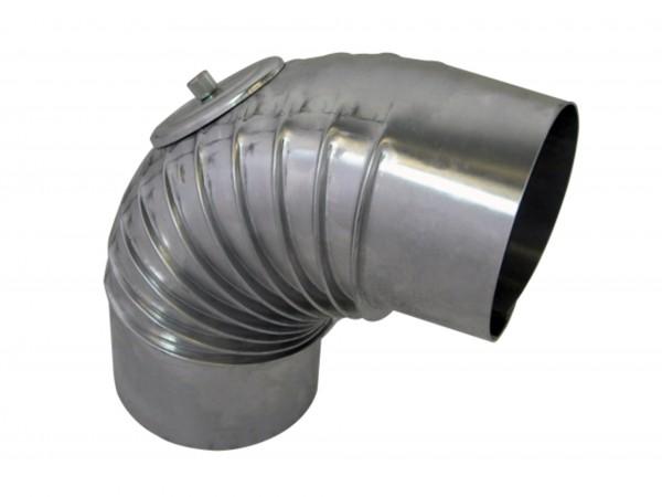 Abgasbogen Aluminium 60 mm 90 Grad