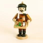 Räuchermann Händler mit Bauchladen farbig, Höhe ca. 15,6 cm