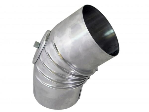 Abgasbogen Aluminium 60 mm 45 Grad