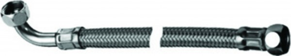 """Flexibler Verbindungsschlauch KTWA 300 mm mit 3/8"""" Überwurfmutter x 3/8"""" Winkel"""